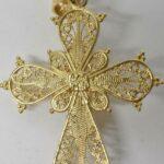 18k-Yellow-Gold-Filigree-Cross-Pendant-41-Grams-194146419890-3