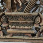 Antique-Carved-Wood-Asian-Style-Panel-Circa-1880s-Floral-Details-265109950990-2