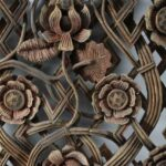 Antique-Carved-Wood-Asian-Style-Panel-Circa-1880s-Floral-Details-265109950990-4
