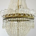 Antique-French-Style-Crystal-Chandelier-Light-Fixture-with-Bronze-Mounts-261501782870-5
