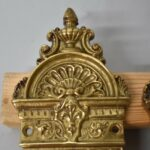 Antique-Heavy-Cast-Brass-Neo-Classical-Entry-Door-Plates-14-Tall-263752111840-2