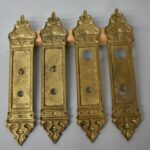 Antique-Heavy-Cast-Brass-Neo-Classical-Entry-Door-Plates-14-Tall-263752111840-4