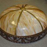 Antique-Large-Scale-Slag-Glass-Chandelier-Leaf-Pattern-295-Diameter-194222440110
