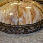 Antique-Large-Scale-Slag-Glass-Chandelier-Leaf-Pattern-295-Diameter-194222440110-3