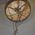 Antique-Large-Scale-Slag-Glass-Chandelier-Leaf-Pattern-295-Diameter-194222440110-4