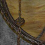 Antique-Large-Scale-Slag-Glass-Chandelier-Leaf-Pattern-295-Diameter-194222440110-5