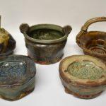 Michigan-Artist-John-Glick-Pottery-Bowl-Green-Orange-264896946830-6