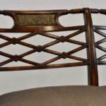 Sheraton-Style-Mahogany-Settee-Bench-Inlaid-Bronze-Plaques-264224513280-2
