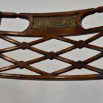 Sheraton-Style-Mahogany-Settee-Bench-Inlaid-Bronze-Plaques-264224513280-6