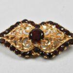 18K-Rose-Gold-Garnet-Pin-Brooch-Victorian-Antique-Signed-BDrift-18K-ALK-264775827361