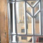 ANTIQUE-FULLY-BEVELED-GLASS-TRANSOM-WINDOW-DARK-WALNUT-FRAME-74X-195-193725234961-3