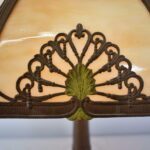 Antique-Bent-Slag-Glass-8-Panel-Table-Lamp-Two-Sockets-A-7-R-Co-263234513961-5