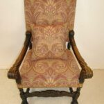 Antique-French-Renaissance-Revival-Style-Carved-Walnut-Armchair-Tapestry-Fabric-264656153151-11