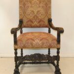 Antique-French-Renaissance-Revival-Style-Carved-Walnut-Armchair-Tapestry-Fabric-264656153151-2