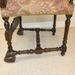 Antique-French-Renaissance-Revival-Style-Carved-Walnut-Armchair-Tapestry-Fabric-264656153151-7