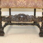 Antique-French-Renaissance-Revival-Style-Carved-Walnut-Armchair-Tapestry-Fabric-264656153151-8