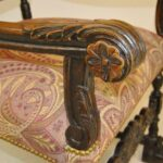 Antique-French-Renaissance-Revival-Style-Carved-Walnut-Armchair-Tapestry-Fabric-264656153151-9