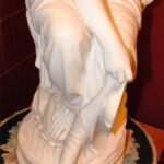 Antique-Italian-Hand-Carved-Marble-Statue-of-Graceful-Lady-Sitting-33-Tall-264931698521-7
