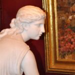 Antique-Italian-Hand-Carved-Marble-Statue-of-Graceful-Lady-Sitting-33-Tall-264931698521-9