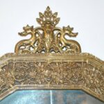 Antique-Onyx-Top-Console-With-Cut-Glass-Mirror-Circa-1920s-Serpent-Relief-264498569141-3