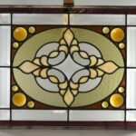 Antique-Stained-Slag-Glass-Jewels-Beveled-Window-264165232481