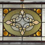 Antique-Stained-Slag-Glass-Jewels-Beveled-Window-264165232481-2