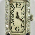 Art-Deco-Ladies-Platinum-Diamond-Sapphire-Wrist-Watch-Circa-1920s-Elem-W-Co-192537552361