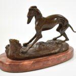 Bronze-Sculpture-On-Marble-Whippet-Dog-P-J-Mene-193625370581-4