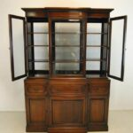 Double-Sided-Mahogany-China-Cabinet-Breakfront-By-Georgetown-Galleries-193743512691-3