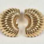 Ladies-Clip14-K-Yellow-Gold-Earrings-116-Grams-In-Weight-193787222621