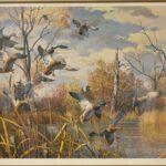 Landing-Ducks-Wetlands-Scene-by-Harry-Curieux-Adamson-1980s-Print-264630003431-2