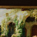 Large-Original-Oil-Painting-On-Canvas-Signed-Garden-Villa-Scene-193711956781-3