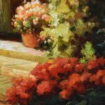 Large-Original-Oil-Painting-On-Canvas-Signed-Garden-Villa-Scene-193711956781-4