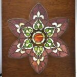 Large-Stained-Glass-Five-Petal-Flower-Shape-in-Wood-Frame-192208663111