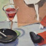 ORIGINAL-OIL-ON-BOARD-BY-JOHN-SWALLEY-1887-1976-TOLEDO-OH-ARTIST-CLOWN-BALLERINA-192265455911-3