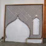 VICTORIAN-LARGE-ENTRYWAY-CHERRY-BALL-STICK-FRETWORK-95-x-98-192275361921