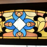 Victorian-Arched-Top-Stained-Glass-Beveled-Window-Floral-Design-5724-192896132841