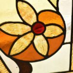Victorian-Arched-Top-Stained-Glass-Beveled-Window-Floral-Design-5724-192896132841-5