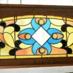 Victorian-Arched-Top-Stained-Glass-Beveled-Window-Floral-Design-5724-192896132841-6