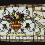 Victorian-Stained-Beveled-Glass-Fruit-Bowl-Transom-Window-64-192981148071