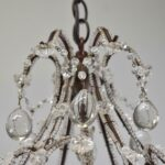 Vintage-Looking-French-Style-Chandelier-with-Crystal-Drops-and-Cut-Glass-Flowers-194229201691-6