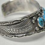 Vintage-Sterling-Silver-Turquoise-Cuff-Bracelet-48-Grams-194267715021-4