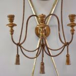 ANTIQUE-3-ARM-WROUGHT-IRON-CANDLEHOLDER-WALL-SCONCE-W-ROPE-DETAIL-264286275852-2
