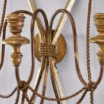 ANTIQUE-3-ARM-WROUGHT-IRON-CANDLEHOLDER-WALL-SCONCE-W-ROPE-DETAIL-264286275852-5