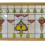 ANTIQUE-ARTS-AND-CRAFTS-STAINED-GLASS-WINDOW-32-x-505-193725225732