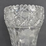 Antique-American-Clear-Cut-Glass-Vase-13-34-Circa-1930s-264727775272-3