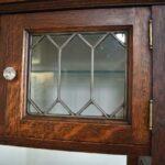 Antique-Quarter-Sawn-Oak-Dental-Cabinet-Leaded-Glass-Doors-194247948232-10