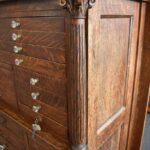 Antique-Quarter-Sawn-Oak-Dental-Cabinet-Leaded-Glass-Doors-194247948232-11