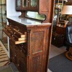 Antique-Quarter-Sawn-Oak-Dental-Cabinet-Leaded-Glass-Doors-194247948232-2
