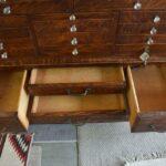 Antique-Quarter-Sawn-Oak-Dental-Cabinet-Leaded-Glass-Doors-194247948232-5